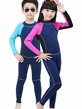 povoljno Sport és outdoor-Bluedive Dječaci Djevojčice Dugo mokro odijelo 2mm Neopren Ronilačka odijela Ugrijati UV zaštitu od sunca Quick dry Dugih rukava Povratak Zipper - Plivanje Ronjenje Surfanje Kolaž / Rastezljivo