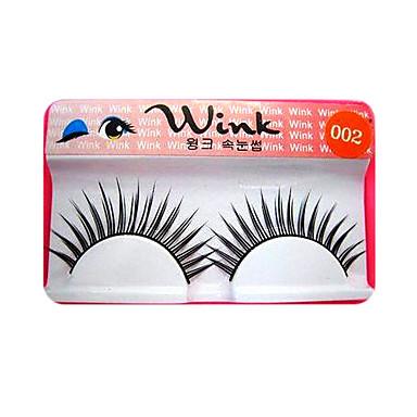 wink volumizing langen falschen Wimpern # 002-1 Paar natürlich aussehende Wimpern (jjm005)