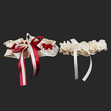 Satijn Modieus Bruiloft kousenband  -  Gestrikt lint Kousenbanden