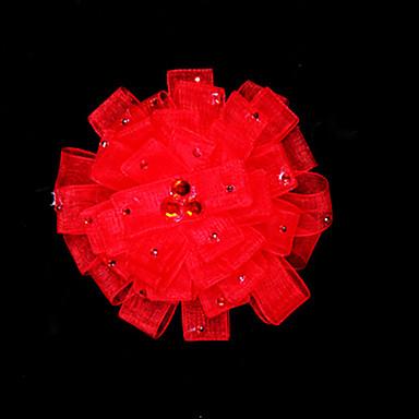 cetim vermelho com strass headpiece bridal casamento