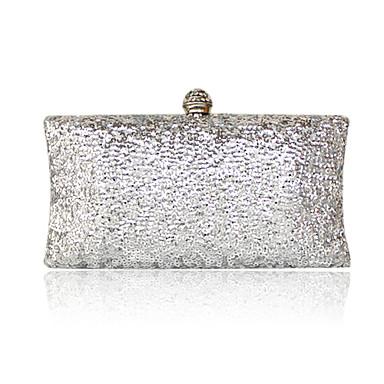 Women Satin Event/Party Evening Bag Green / Silver / Gray / Black