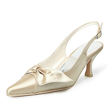 top in raso di qualità superiore pompe tacchi alti con le scarpe da sposa bowknot / scarpe da sposa (0.984-r-045)