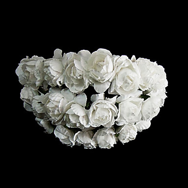 Paper Flowers Headpiece Wedding Party Elegant Classical Feminine Style