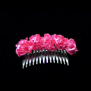 herlig sateng bryllup blomsterpike kammer / headpiece