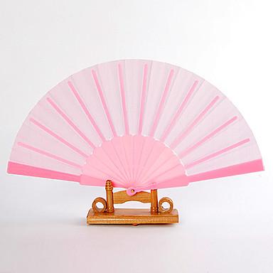 Mătase Ventilatoare și umbrele de soare-# Piece / Set Ventilatoare de Mână Temă Grădină Temă Clasică Roz 16 1/2
