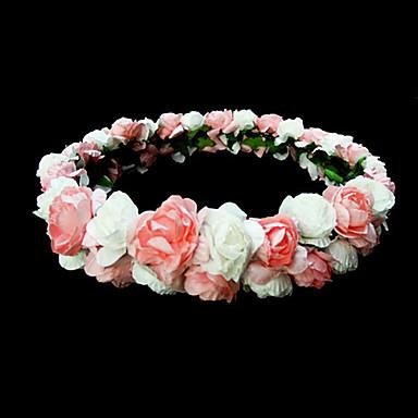 kleurrijke mooie papieren bloem bruiloft bloemenmeisje krans / hoofddeksel