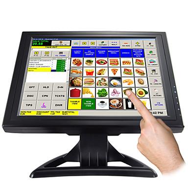 15-tums pekskärm LCD-skärm med VGA för pos och hem