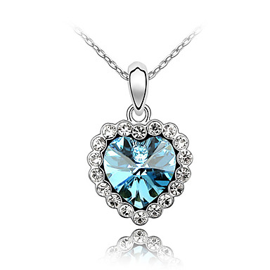 Women's Heart Cut Crystal Alloy , Party Special Occasion Anniversary Birthday Engagement Gift Causal Daily Office & Career Outdoor