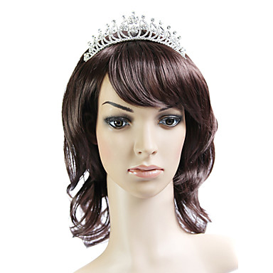Capless Brown 100% Japanese Kanekalon Fiber Beautiful Curly Shoulder Hair Wig