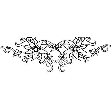 Tetovaže naljepnice Flower Serija Uzorak Donji dio leđa Waterproof Žene Girl Boy Flash Tattoo Privremene tetovaže