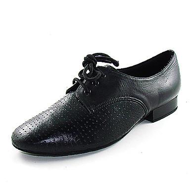 echt lederen bovenkant dansschoenen latin ballroom schoenen voor mannen