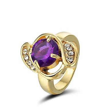 Kristall in 14 Karat Goldauflage Cocktail-Ring (weitere Farben)