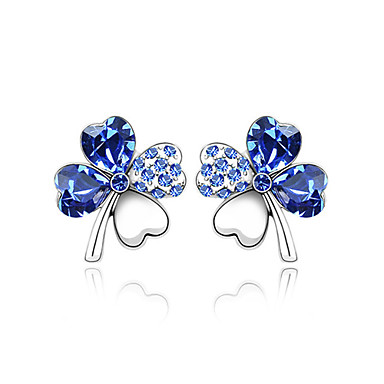 High Quality Alloy And Crystal With Platinum Plated Earrings More Colors Available