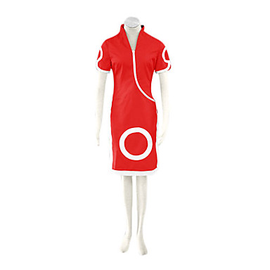 Inspirat de Naruto Sakura Haruno Anime Costume Cosplay Costume Cosplay Rochii Imprimeu Manșon scurt Cheongsam Pantaloni scurți Pentru