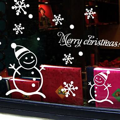 크리스마스 장식 벽 스티커 휴일 장신구 크리스마스 눈사람