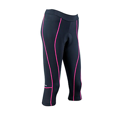SANTIC Women's Cycling 3/4 Tights - Black Bike Quick Dry, Breathable Coolmax®
