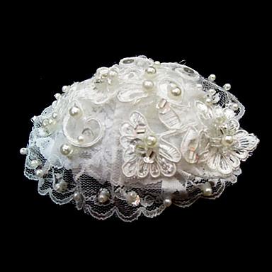 Dame Blonde Imiteret Perle Medaljon-Bryllup Speciel Lejlighed Blomster