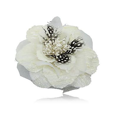 linho com penas / imitação de flor de noiva pérola casamento / corpete / headpiece