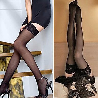 sexy kant dunne anti-slip dij hoge sokken (meer kleuren)