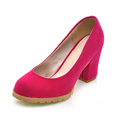 Suede Chunky Heel Closed Toe Shoes For Party/Evening (More Colors)