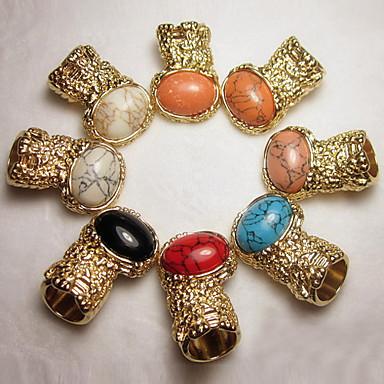 retro gemma anello di coppia