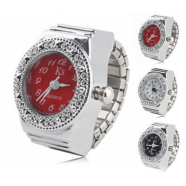 Pentru femei Ceas inel Ceas La Modă Japoneză Quartz Aliaj Bandă Sclipici Argint