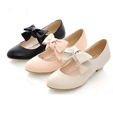 PU lær 3cm flate Sweet Lolita sko