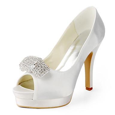 Svart / Rosa / Rød / Elfenbenshvit / Hvit / Sølv / Gull - Bryllup sko - Dame - Hæler / Åpen tå - høye hæler - Bryllup