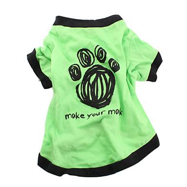 Σκύλος Φανέλα Ρούχα για σκύλους Γράμμα & Αριθμός Πράσινο Βαμβάκι Στολές Για κατοικίδια Ανδρικά Γυναικεία Καθημερινά