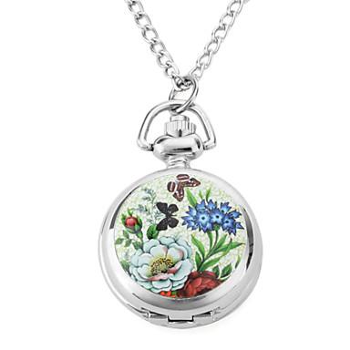 Dame Lommeure Quartz Bånd Sommerfugl Blomst Sølv Sølv