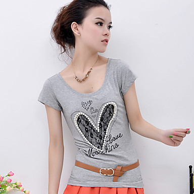 Heart Printed Beads Design T-shirt