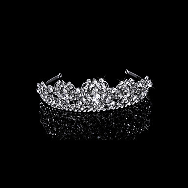 moda e cubic zirconia rhinestone tiara nuziale