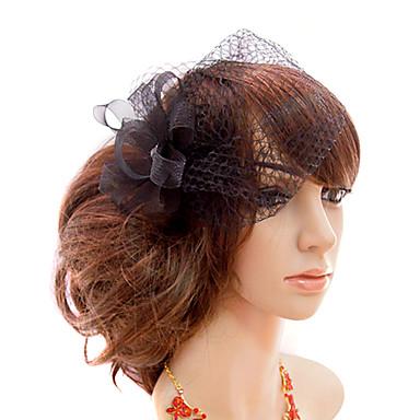 Femei Tul Diadema-Nuntă Ocazie specială Informal Exterior Pălărioare Voaluri Plasă