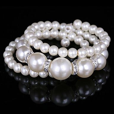 la moda de señora spiralof tres imitación nivel de pulsera de la perla