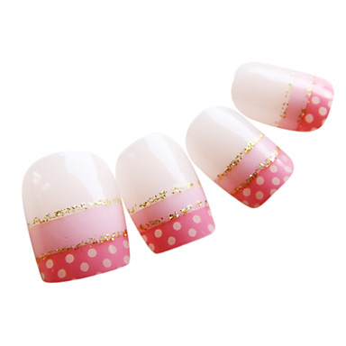 Colorful Dream Nail Art Tips With Glue (24pcs)