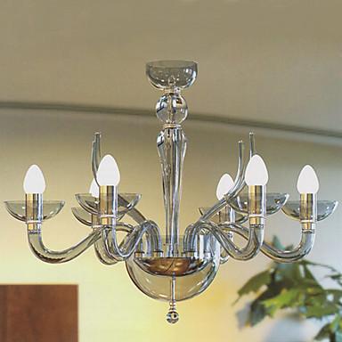 lampadari moderni acrilici con 6 candele luci presenti del ...