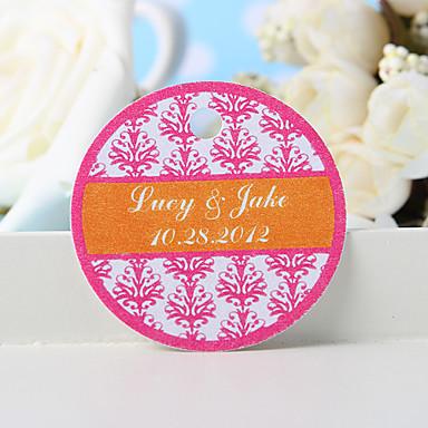 εξατομικευμένη ετικέτα χάρη - ροζ floral εκτύπωση (σύνολο 36) γαμήλιες εύνοιες