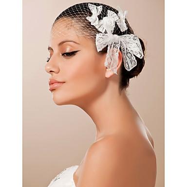 Elegante Spitze Hochzeit Braut Kopfstück