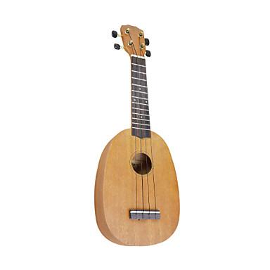 Yadars - Mahogany Soprano Ukulele with Gig Bag (Pineapple Shape)
