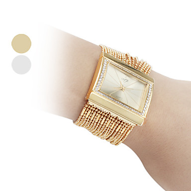 Dame Quartz Armbåndsur / Kjoleur Japansk Imiteret Diamant Kobber Bånd Glitrende / Elegant / Mode Guld