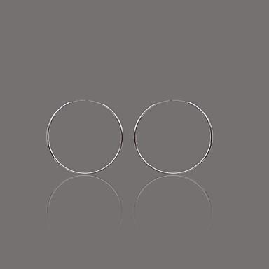 nydelig sølvfat polish sirkel hoop earring
