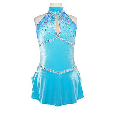 Eiskunstlaufkleid Damen / Mädchen Eislaufen Röcke / Kleider / Unten Elasthan Strass Leistung Eiskunstlaufkleidung Handgemacht Ärmellos