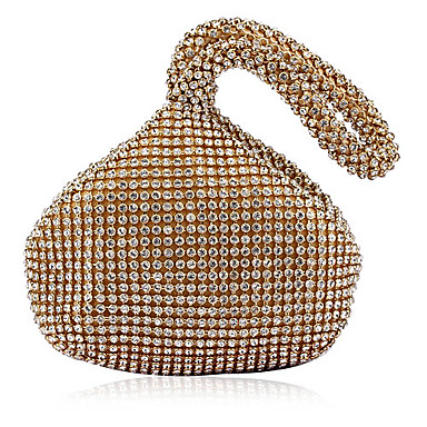 Women's Bags Acrylic Evening Bag Crystal/ Rhinestone for Event/Party All Seasons Gold White Black