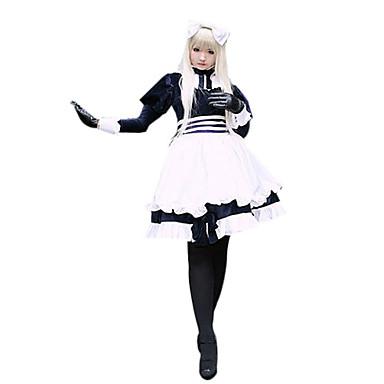 Esinlenen Hetalia White Russia Natalia Alfroskaya Anime Cosplay Kostümleri Cosplay Takımları Kırk Yama Uzun Kollu Elbise Uyumluluk Kadın's