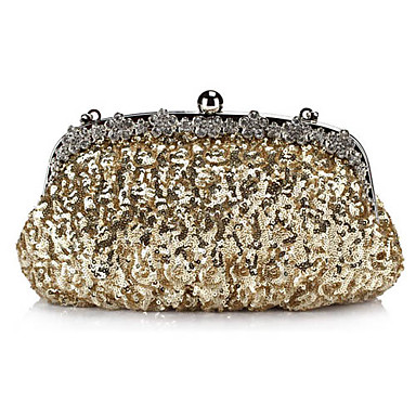 Потрясающая вечерняя сумочка из атласа, украшенная блестками и стразами (цвета в ассортименте)