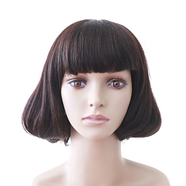 Women Synthetic Wig Curly Bob Haircut Costume Wig