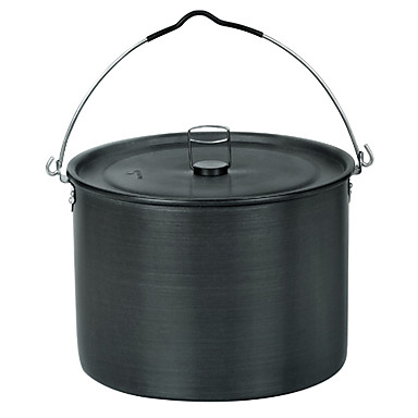 ALOCS® Hanging Pot/Crane Pot 5-7 People 10.5L Camping Cookware for Hiking/Picnic/Backpacking