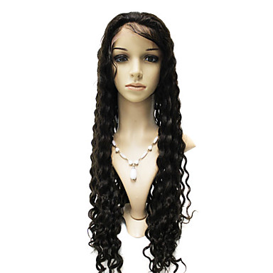 Lace Front 100% Indian Remy Hair Deep Wave Lange Perücke