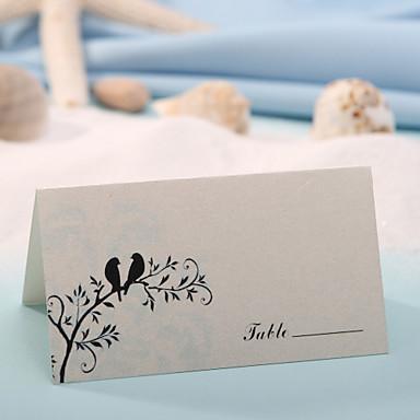 yer kartları ve sahipleri yer kartı - sevimli kuşlar (12 kümesi) düğün