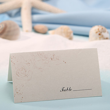 yer kartı - zarif gül (12 set) plakalı sahipler düğün töreni